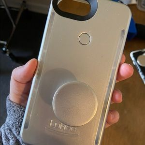 LuMee Duo Case for 8 Plus - Silver
